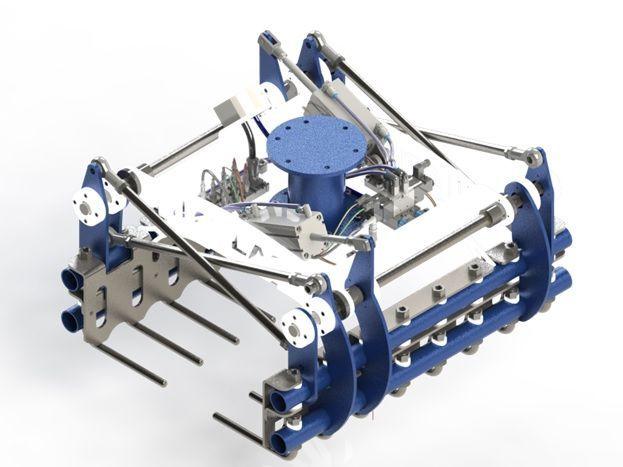 garra de robot paletizador