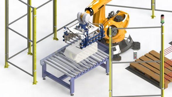Robot para paletizado de sacos