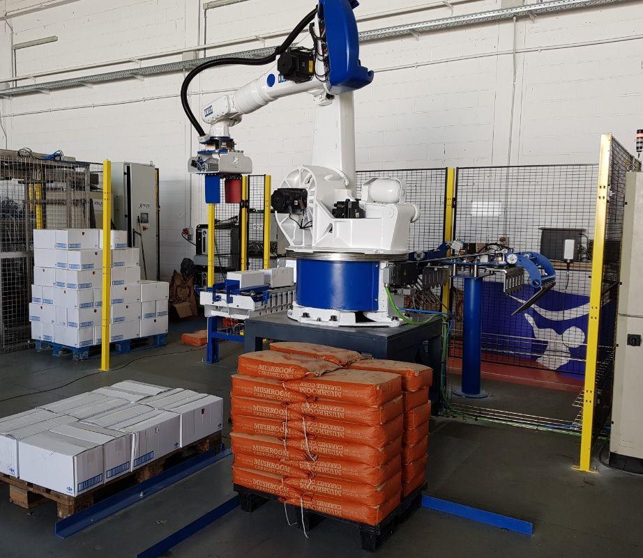 Robot paletizador de cajas y sacos