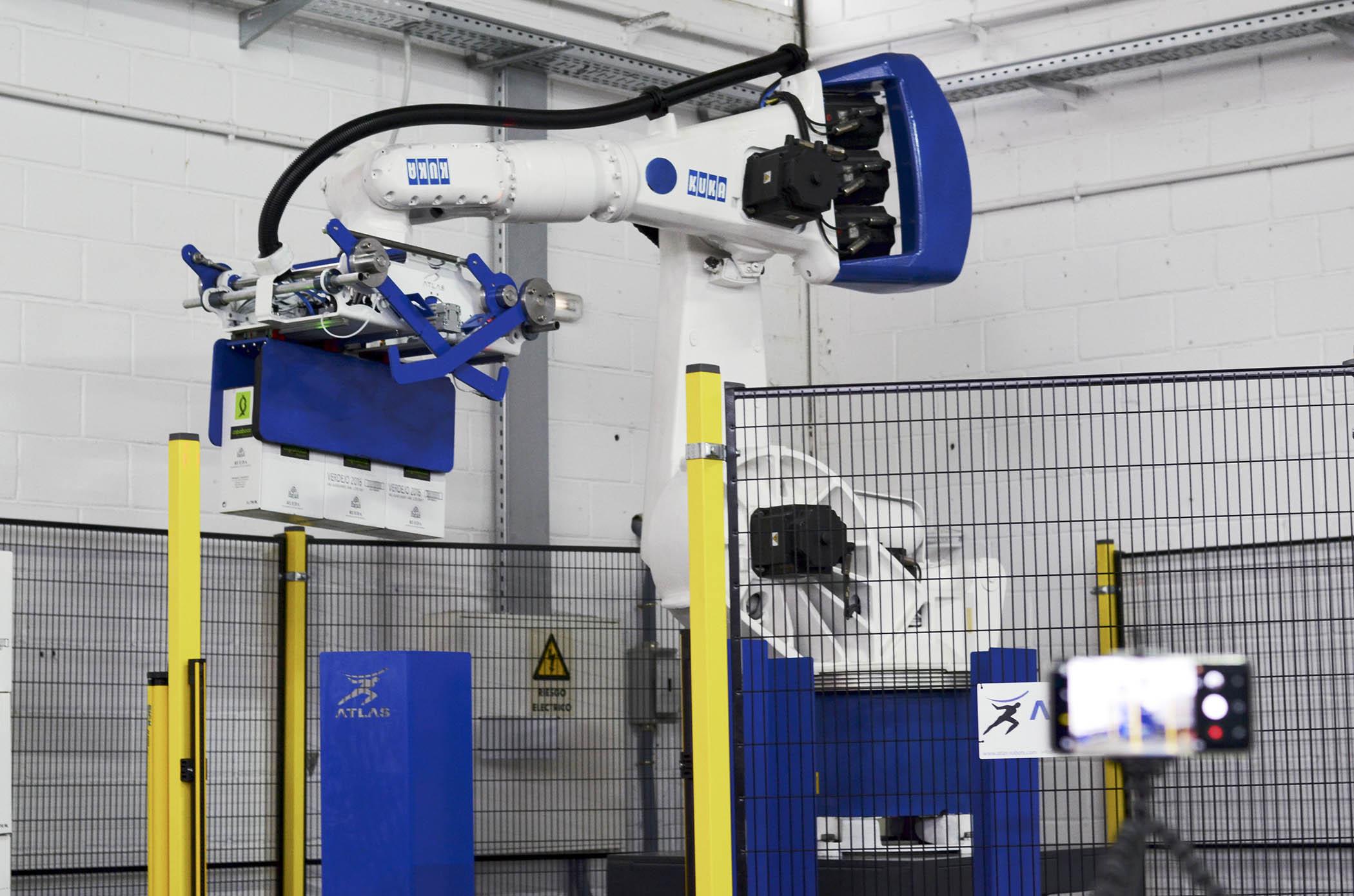 robot paletizador de cajas