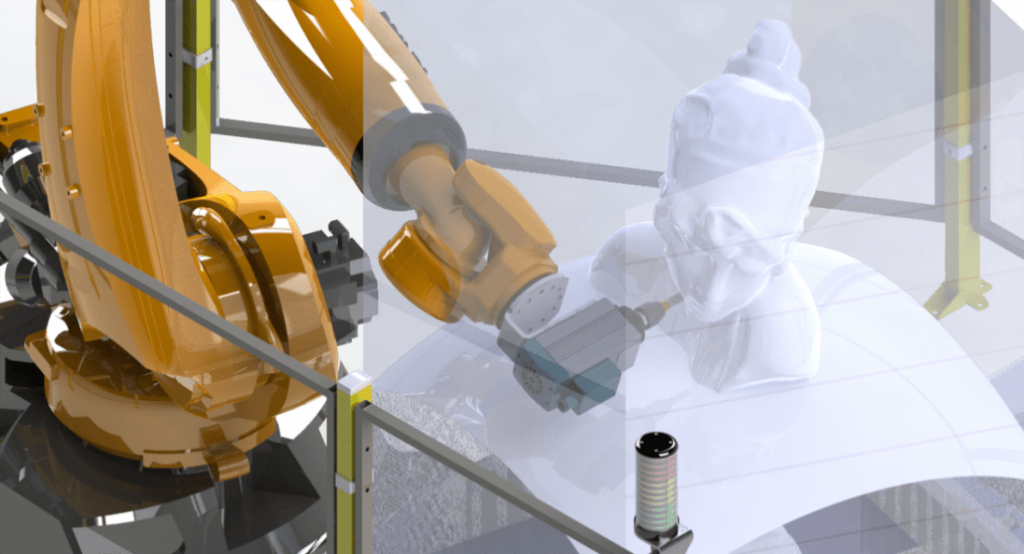 robot cnc fresado automatico