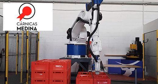 Robot Despaletizador de cajas de carne - Cárnicas Medina